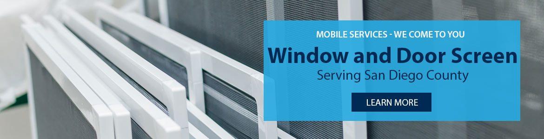 San diego window screen repair replacement installation for Home window screen repair